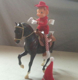 Mike the Elf Riding Breyers Horse 2017