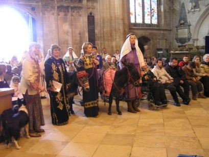 Christmas Pageant at Gloucester Cathedral from Sheila